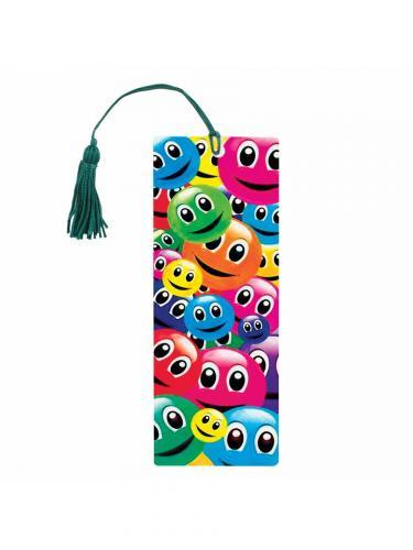 Закладка для книг Смайлики с декоративным шнурком