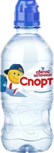 Вода минеральная  Святой Источник для детского питания Спортик 0,33л. негазированная
