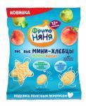 ФрутоНяня Мини-хлебцы рисовые с пребиотиком яблоко/персик 30г