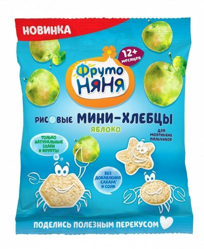 ФрутоНяня Мини-хлебцы рисовые с пребиотиком яблоко 30г