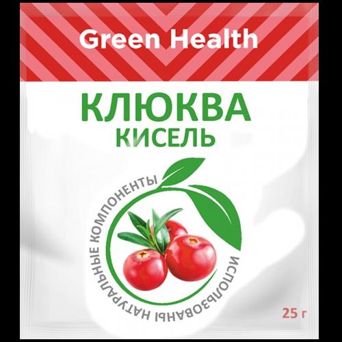Грин Хэлф Кисель Клюква без сахара 25г