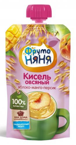 ФрутоНяня Кисель овсяный яблоко/манго/персик 130г