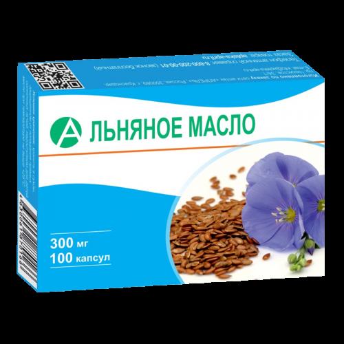 Масло льняное капсулы 300мг №100