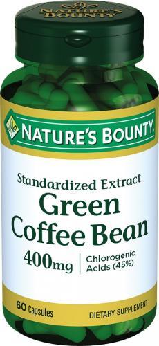 Нэйчес Баунти/Nature's Bounty Зелёные кофейные зёрна капсулы 400мг №60