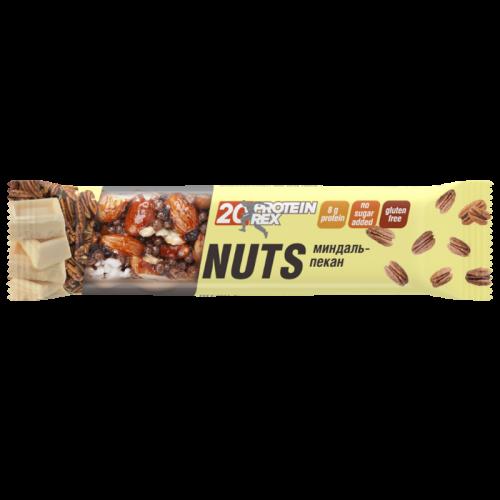 Батончик ореховый протеиновый Миндаль-пекан 40г