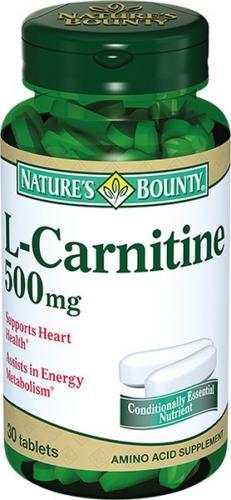 Нэйчес Баунти/Nature's Bounty L-Карнитин таблетки 500мг №30