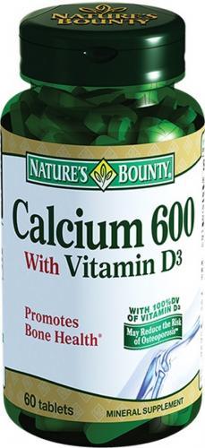 Nature's Bounty/Нэйчес Баунти Кальций 600 с витамином Д3 таблетки №60