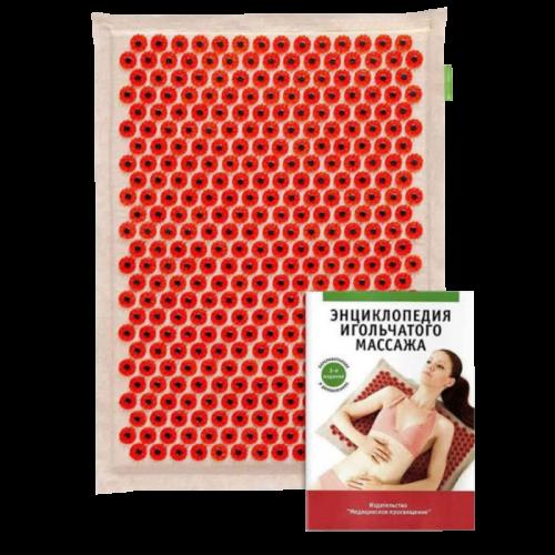 Массажер медицинский Тибетский аппликатор магнитный коврик 41*60 красный