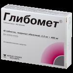 Глибомет таблетки 2,5/400мг №40