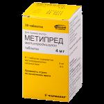Метипред таблетки 4мг №30