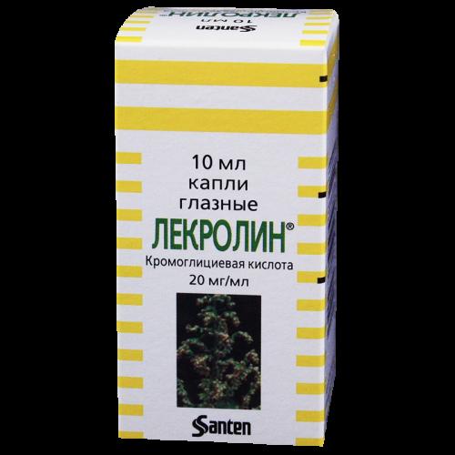Лекролин глазные капли фл. 10мл