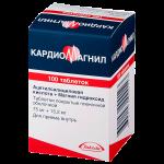 Кардиомагнил таблетки 75мг+15,2мг №100