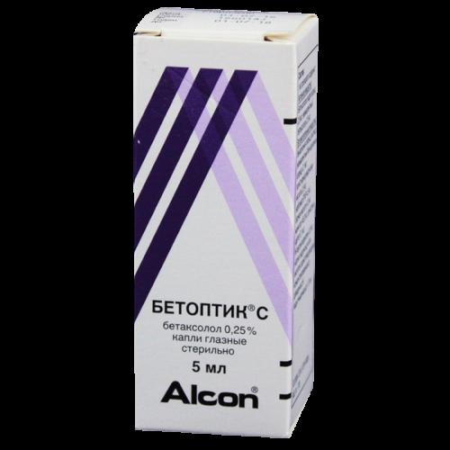 Бетоптик С глазные капли 0.25% фл. 5мл