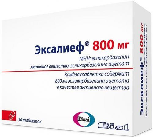 Эксалиеф таблетки 800мг №30