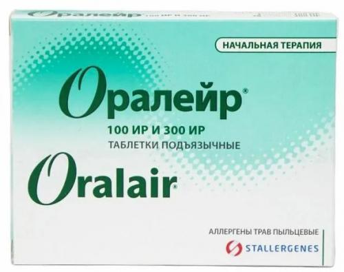 Оралейр Аллерген пыльцы луговых трав таблетки №28+№3