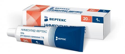 Нимесулид-Вертекс гель 1% 20г