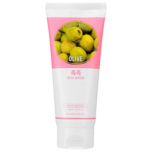 Холика/Holika Пенка очищающая с Оливой, увлажняющая Daily Fresh Olive Cleansing Foam 150 мл
