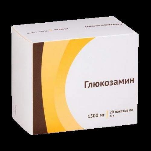 Глюкозамин порошок для приготовления раствора для приема внутрь 1.5г пакет №20