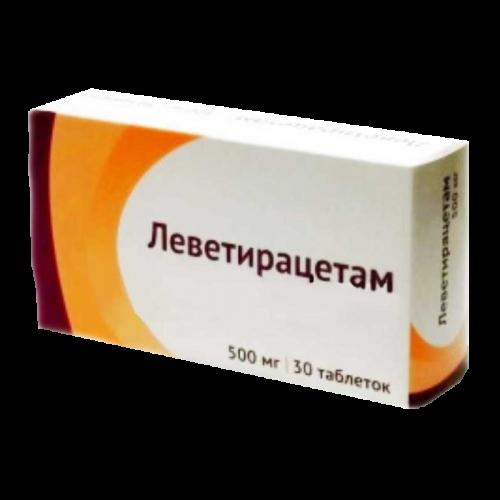 Леветирацетам таблетки 500мг №30