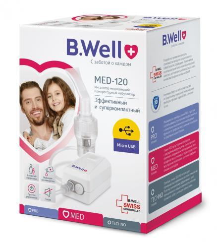 БиВелл Ингалятор (небулайзер) компрессорный MED-120