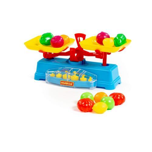 Полесье Набор Весы+набор фруктов 12 элементов