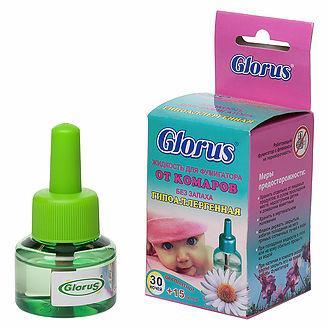 Глорус-Ликвид гипоаллергенный жидкость от комаров 45 ночей без запаха