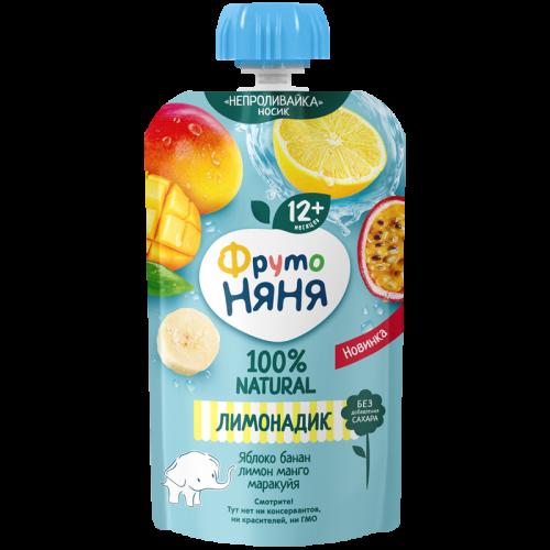 ФрутоНяня Напиток сокосодержащий из яблок, бананов, лимона, манго и маракуйи