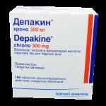 Депакин хроно таблетки 300мг №100