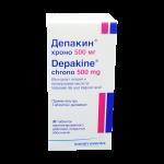 Депакин хроно таблетки 500мг №30