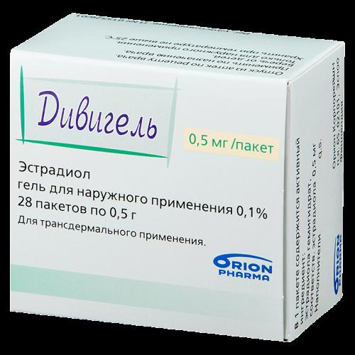 Дивигель гель для наружного применения 0.1% пакет 0.5г №28