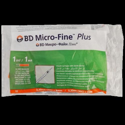 BD Emerald Шприц инсулиновый Микро-Файн Плюс U-100 1мл №10