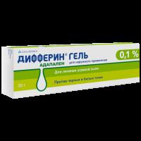 Дифферин гель 0.1% 30г