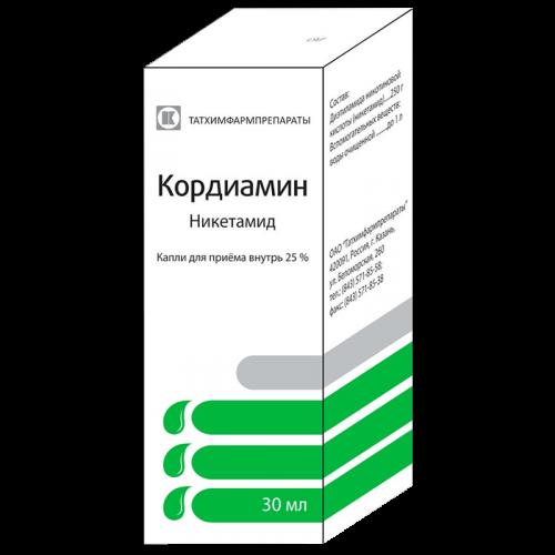 Кордиамин капли для приема внутрь фл. 30мл