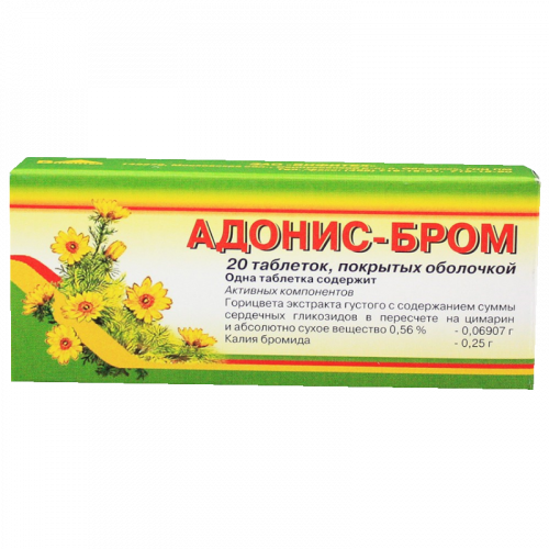 Адонис-бром таблетки №20