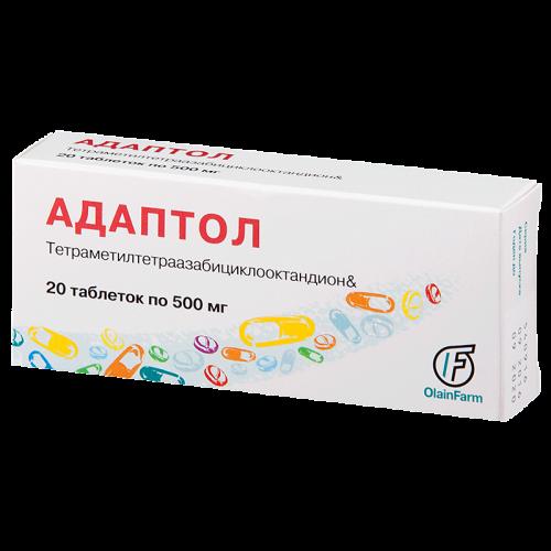 Адаптол таблетки 500мг №20