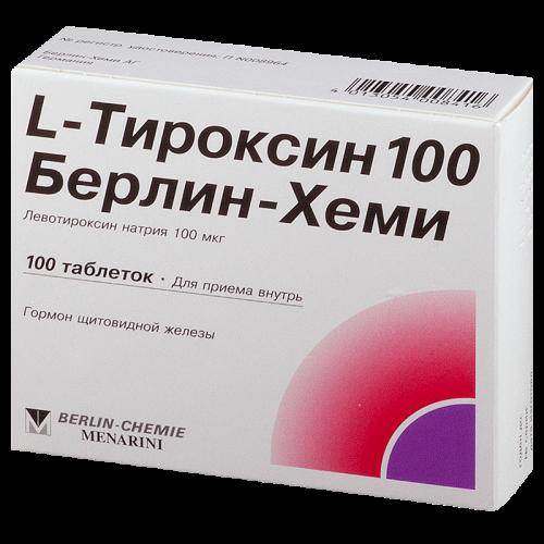 Л-тироксин таблетки 100мкг №100