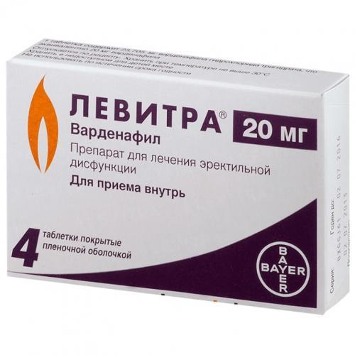 Левитра таблетки 20мг №4