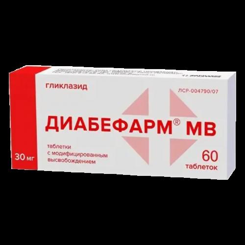 Диабефарм таблетки 30мг №60