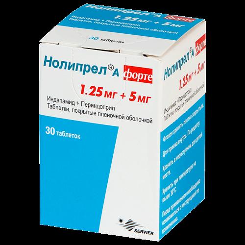 Нолипрел А Форте таблетки 1,25мг+5м №30