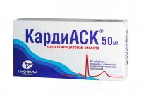 Кардиаск таблетки 50мг №60