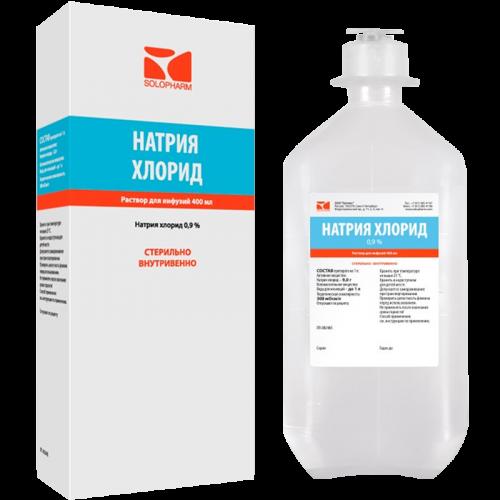 Натрия хлорид р-р д/инф. 0.9% фл. 400мл