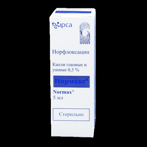 Нормакс глазные/ушные капли фл. 0.3% 5мл