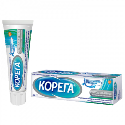 Корега Крем для фиксации протезов Нейтральный вкус 40г