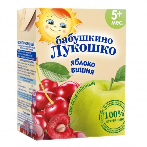 Бабушкино Лукошко Сок Яблоко/вишня 200г
