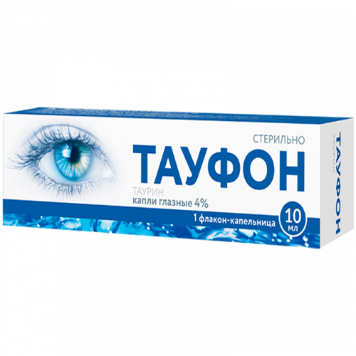 Тауфон глазные капли 4% фл. 10мл