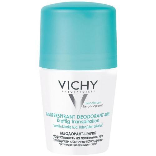 VICHY шариковый дезодорант, регулирующий избыточное потоотделение 48 часов, 50 мл