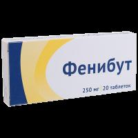 Фенибут таблетки 250мг №20