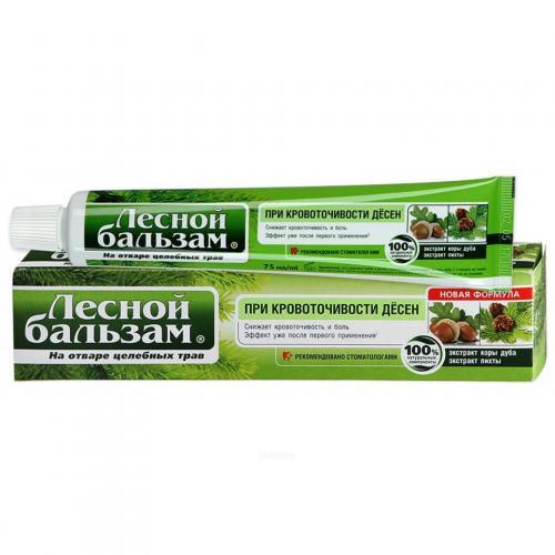 Лесной бальзам Зубная паста Кора дуба/пихта 75мл