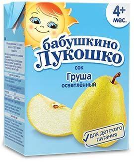 Бабушкино Лукошко Сок Груша осветленный 200г