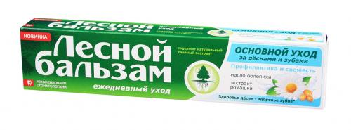 Лесной бальзам Зубная паста Ромашка/облепиха 75мл